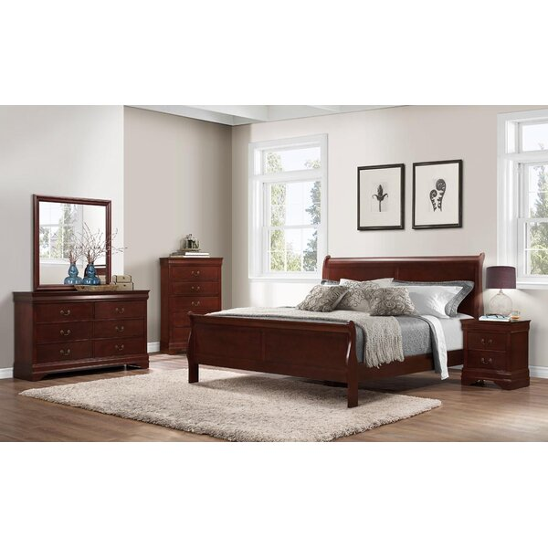 Cali Sleigh Configurable Bedroom Set by Charlton Home