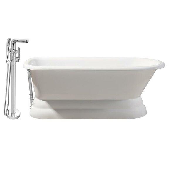 Cast Iron 66 x 30 Freestanding Soaking Bathtub by Streamline Bath