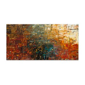 Gold Splash by Carmen Guedez Painting Print on Canvas by Artefx Decor
