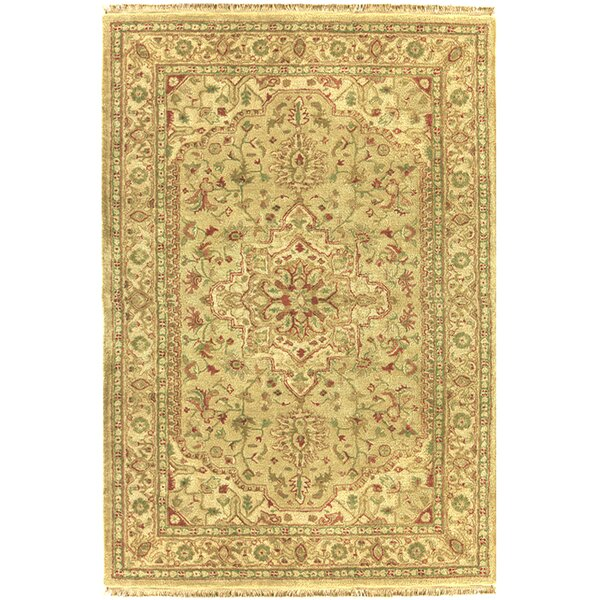 Serapi Hand-Tufted Wool Gold/Red/Green Area Rug