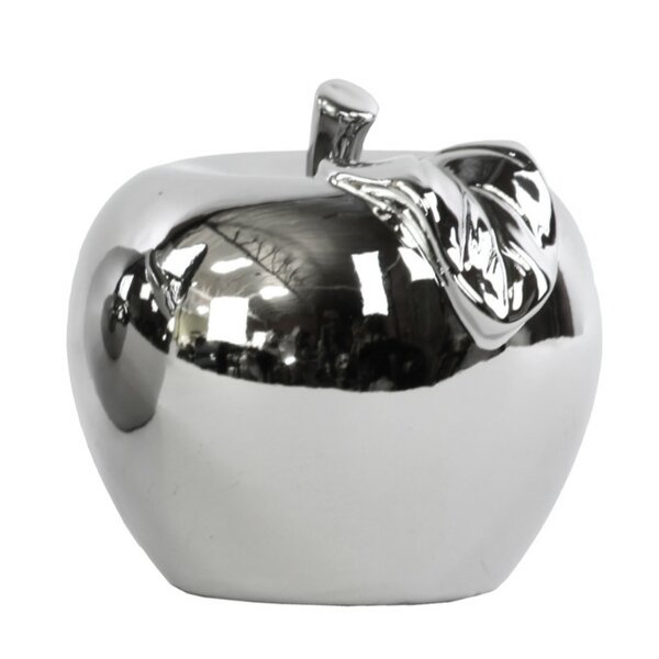 Kylo Shimmering Lustrous Apple Sculpture by Darby Home Co