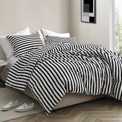 Dorcaster Striped Comforter Set Wrought Studio Size: King Comforter + 2 Shams