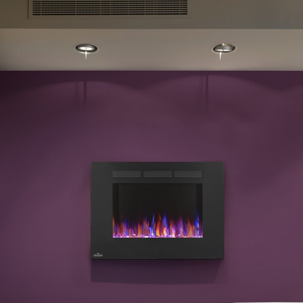 Allure Recessed Wall Mounted Electric Fireplace By Napoleon