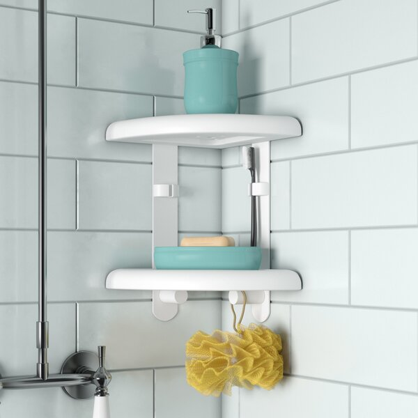 Two Tier Corner Shower Caddy by Rebrilliant