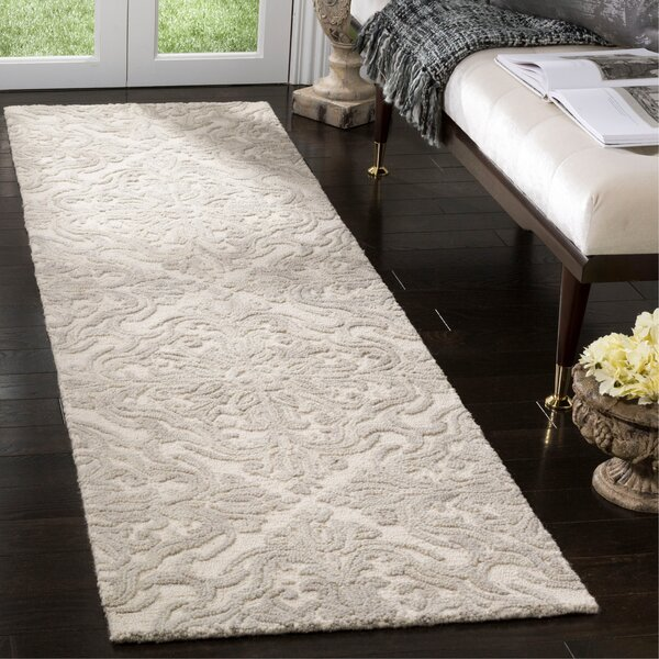 Burkhart Hand Tufted Wool Ivory Area Rug by One Allium Way