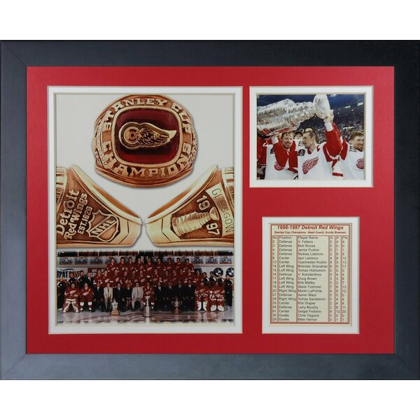 1997 Detroit Red Wings Champions Framed Memorabilia by Legends Never Die