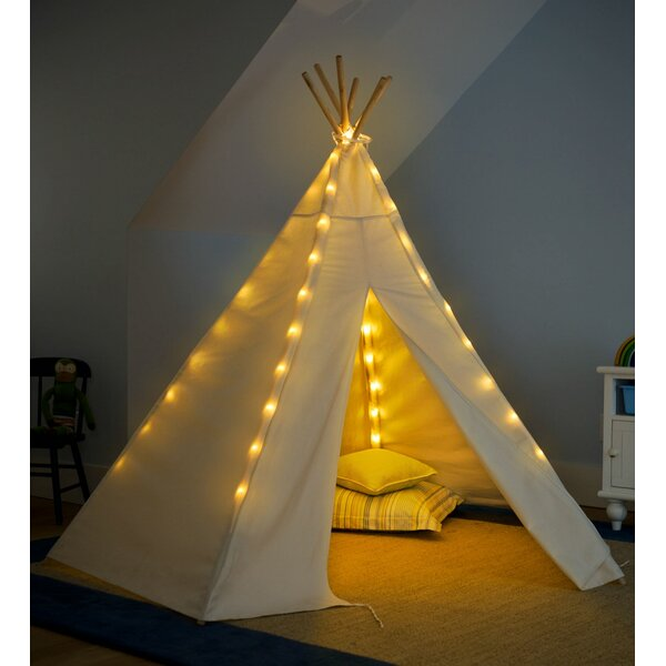 Battery Operated Lights Special Play Teepee with Carrying Bag by HearthSong