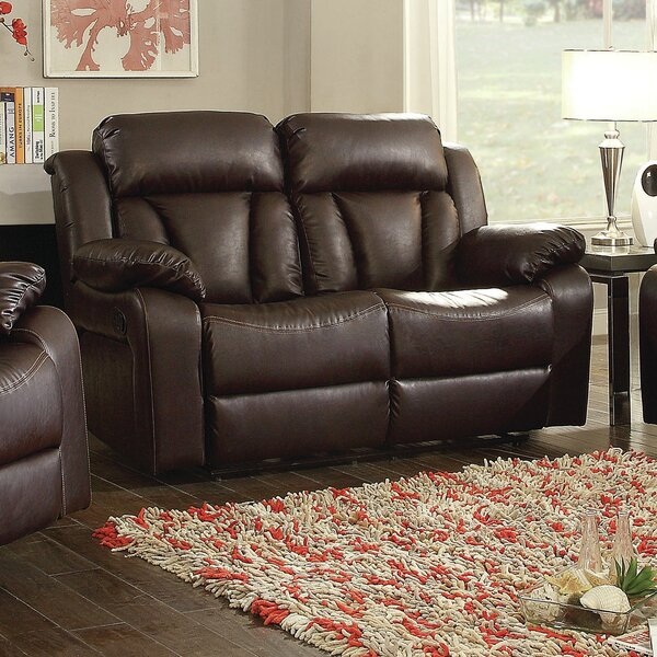 Get Name Brand Waymire Reclining Loveseat by Red Barrel Studio by Red Barrel Studio