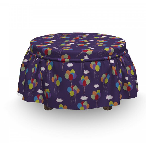Festival And Birthday Ottoman Slipcover (Set Of 2) By East Urban Home