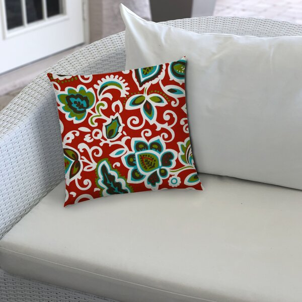 Musa Indoor/Outdoor Floral 5'' Throw Pillow