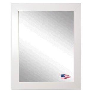 Brayden Studio Polished White Wall Mirror