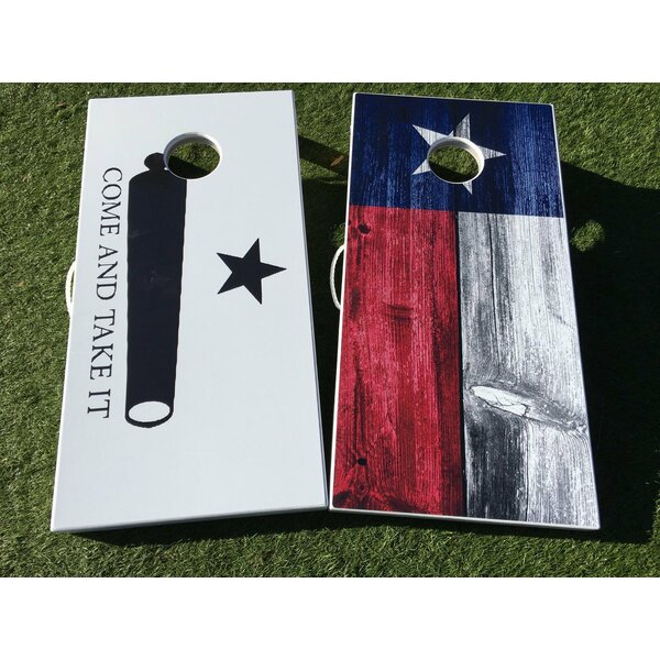Come and Take It and Texas Flag 10 Piece Cornhole Set by West Georgia Cornhole