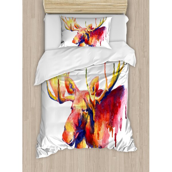 Moose Psychedelic Watercolor Paintbrush Style Brig