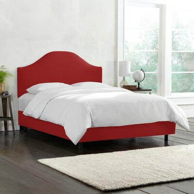 Katzer Upholstered Standard Bed Three Posts Teen Size: Queen, Color: Antique Red