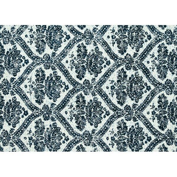 Keiper Indigo Blue/White Area Rug by Alcott Hill