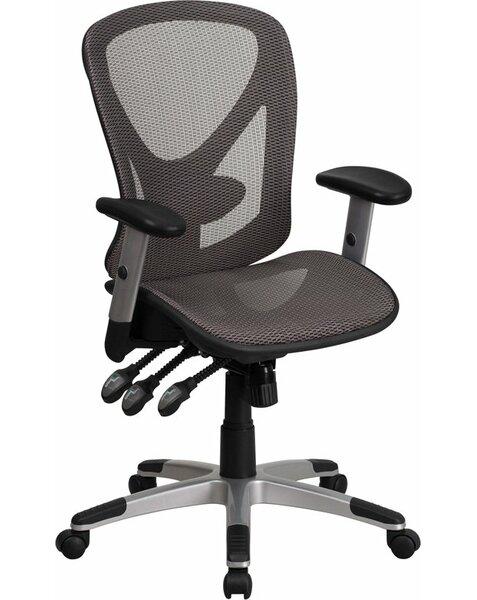Mccranie Mid-Back Transparent Ergonomic Mesh Swivel Office Chair by Latitude Run