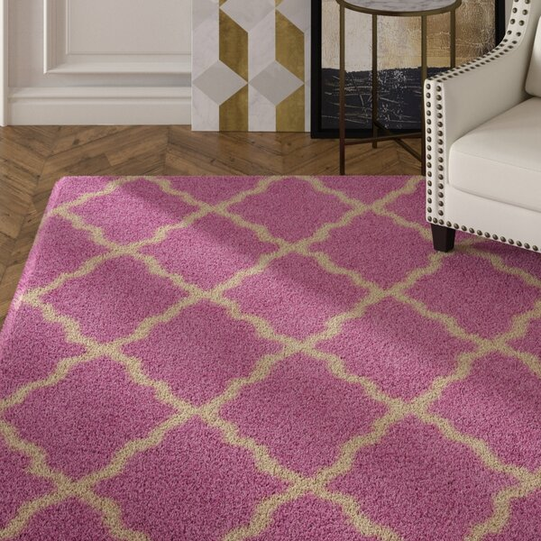 Moores Pink/Ivory Area Rug by House of Hampton