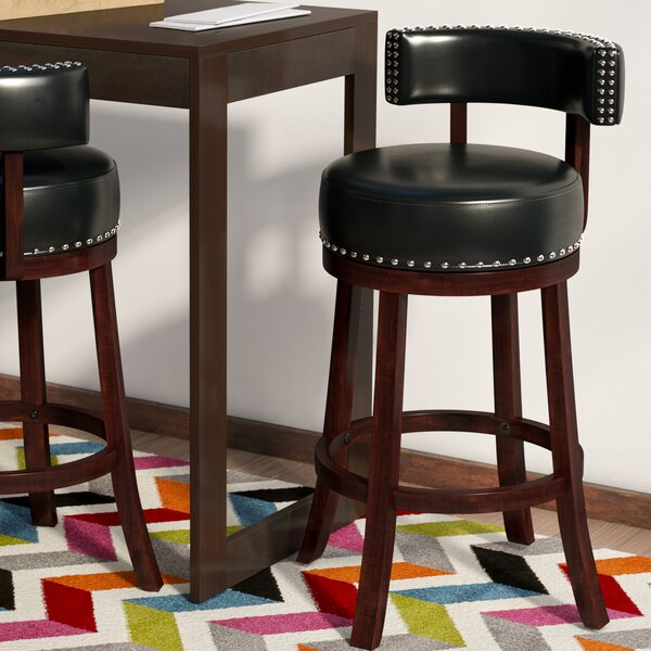 Tonia Contemporary 25 Swivel Bar Stool (Set of 2) by Zipcode Design