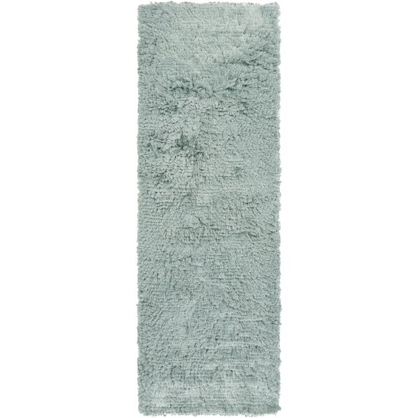 Wendi Handmade Light Teal Solid Area Rug by Everly Quinn