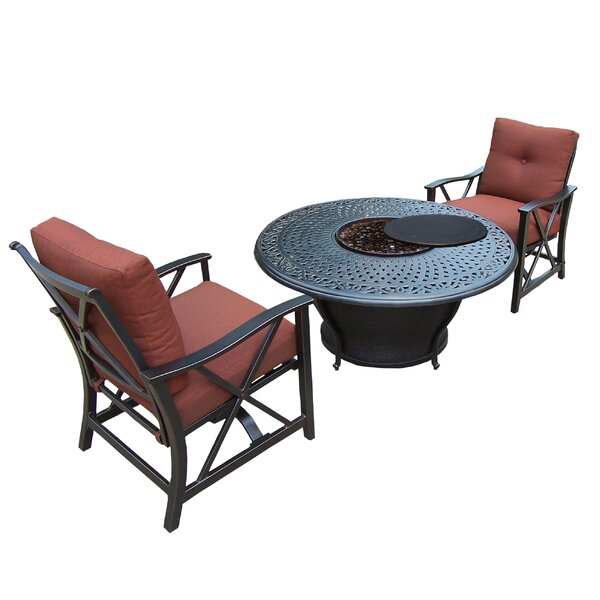 Owego 3 Piece Conversation Set with Cushions by Darby Home Co Darby Home Co