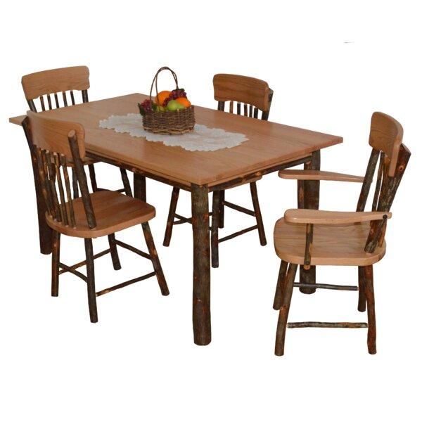 Wyton 5 Piece Solid Wood Dining Set by Loon Peak Loon Peak
