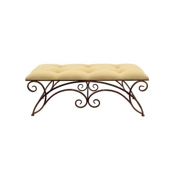 Cogar Upholstered Bench by Fleur De Lis Living