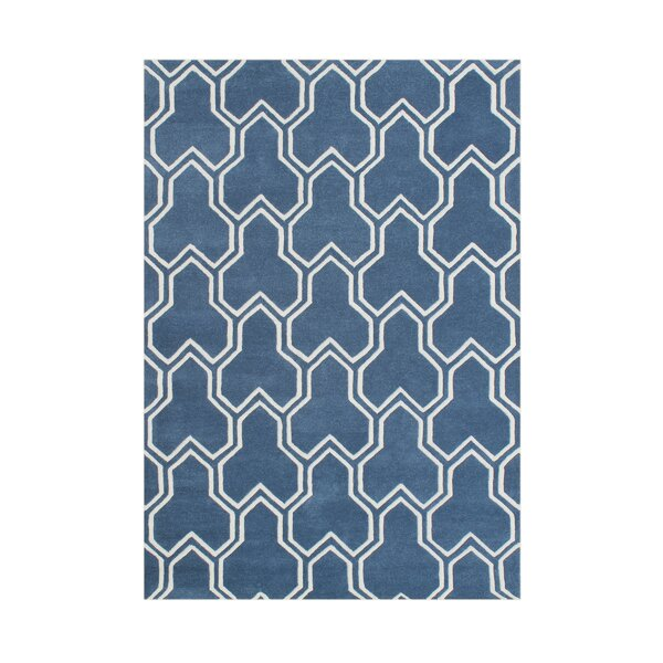 Airport Hand-Tufted Blue Area Rug by The Conestoga Trading Co.