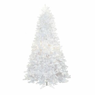 crystal 9 white pine artificial christmas tree with 1100 led multi colored lights with stand