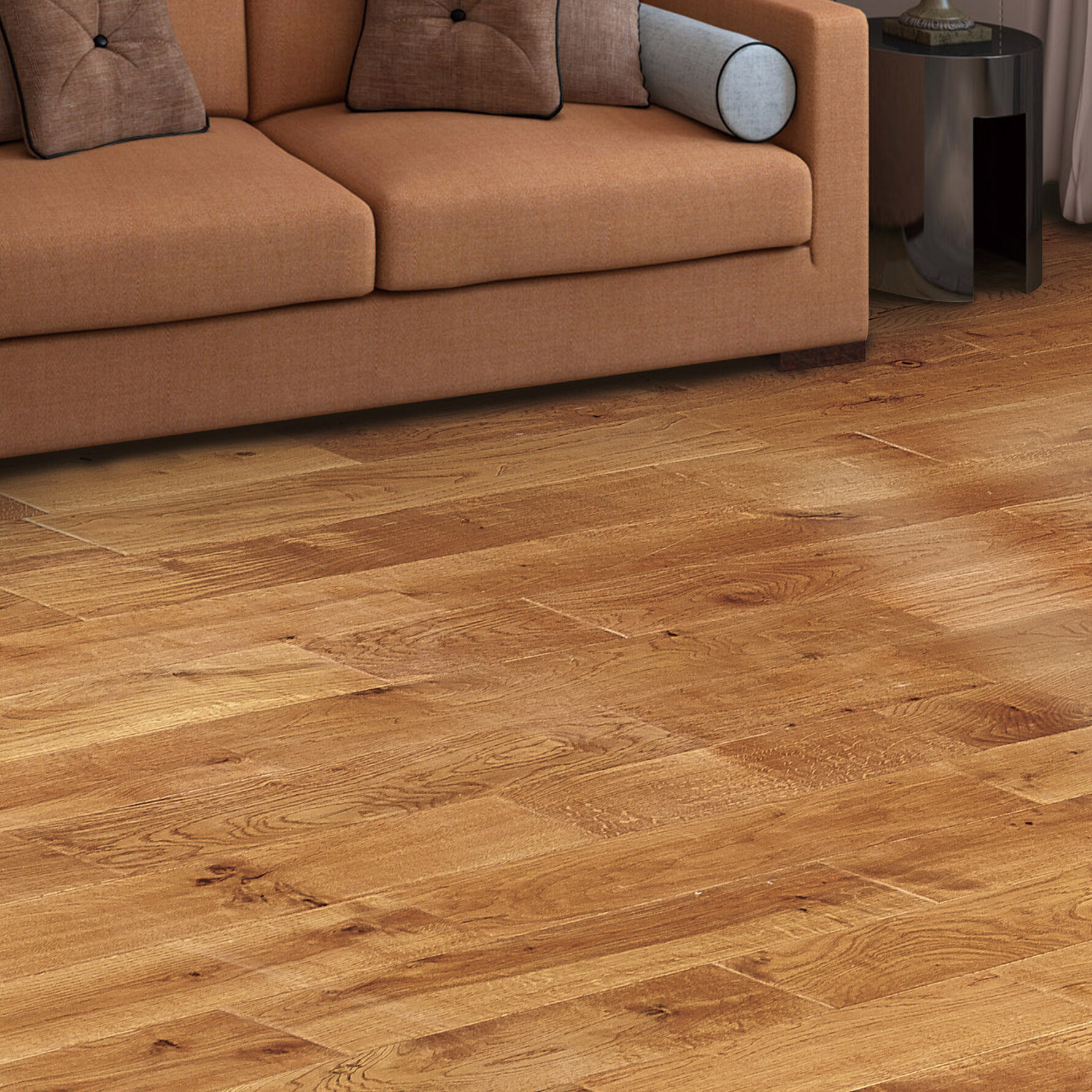"""Orchard Oak 5/5"""" Thick x 5-5/5"""" Wide x 5"""" Length Solid Hardwood Flooring"""