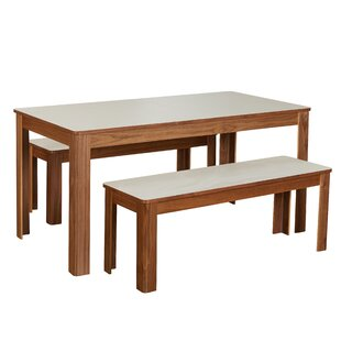Read Reviews Finck 3 Piece Dining Set by Wrought Studio