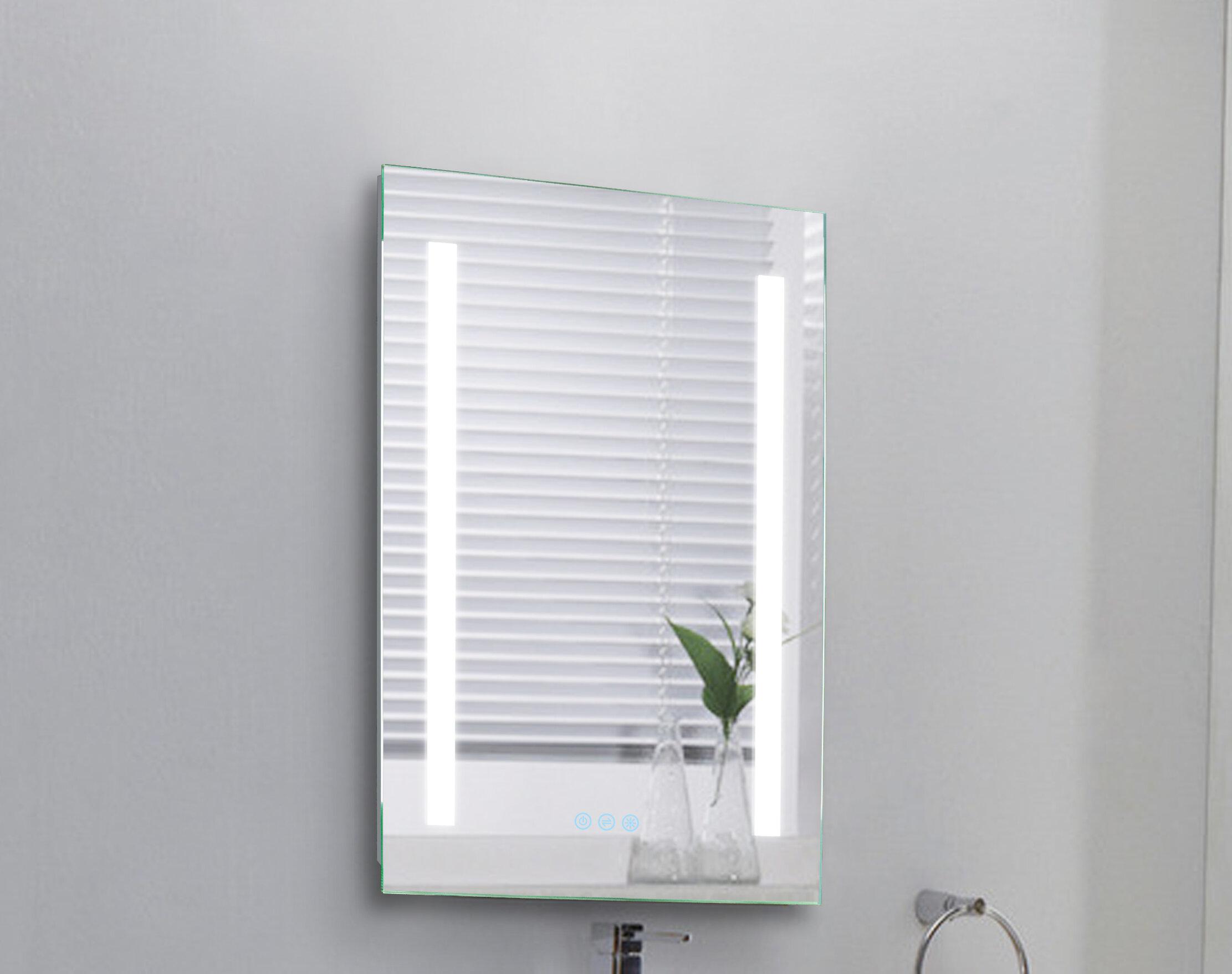 Orren Ellis Reverie Wall Mount Modern Bathroom Mirror Wayfair