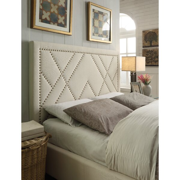 Vernita Nailhead Upholstered Panel Headboard by Gracie Oaks
