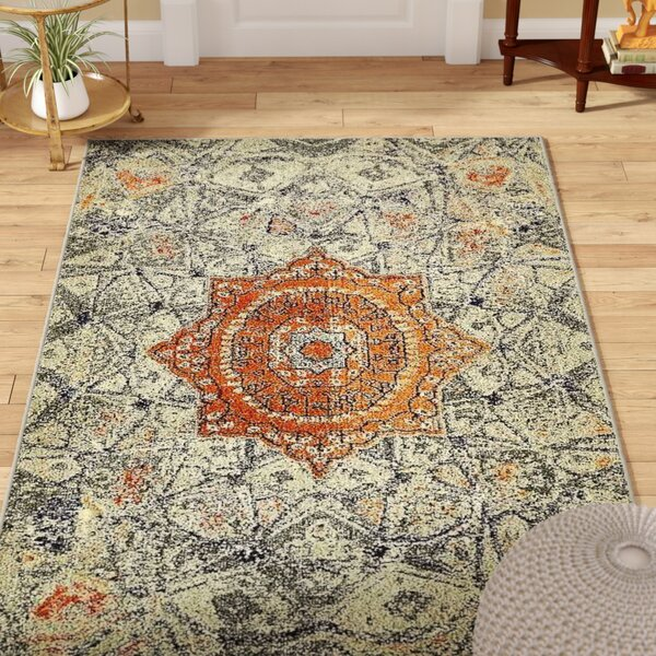 Newton Gray Area Rug by World Menagerie