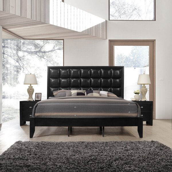 Willenhall Wood Upholstered Standard Bed by Ebern Designs