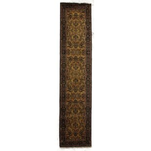 Budget Mohajeran Sarouk Hand-Knotted Wool Gold/Black Area Rug By Exquisite Rugs