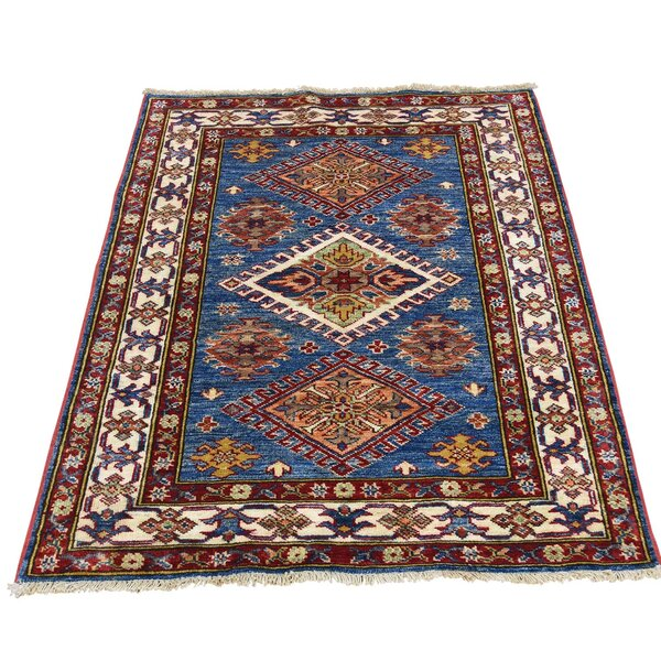 One-of-a-Kind Tillotson Super Hand-Knotted Denim Blue/Brown Area Rug by Millwood Pines