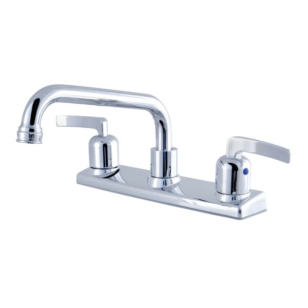 Centurion Pull Out Double Handle Kitchen Faucet by Kingston Brass