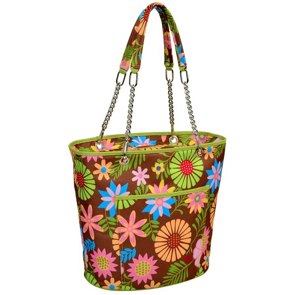 22 Can Floral Insulated Fashion Tote Cooler by Picnic at Ascot
