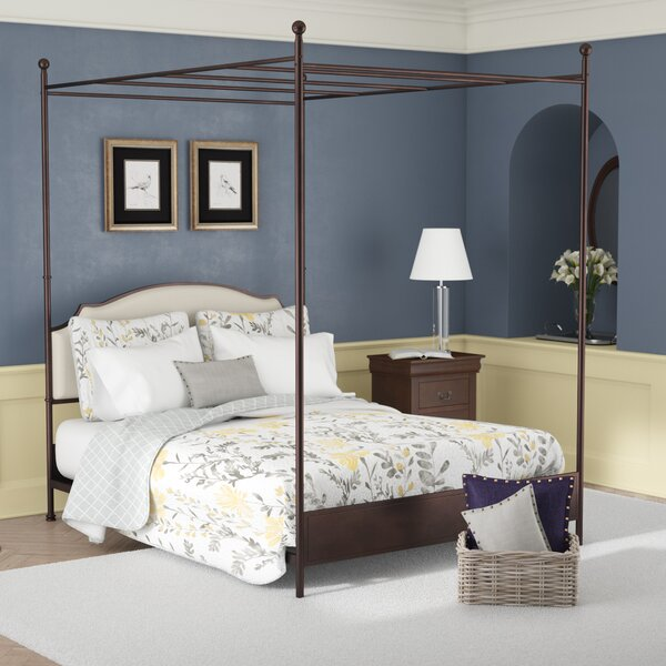 Rockledge Upholstered Canopy Bed by Three Posts