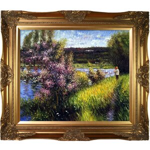 The Seine at Chatou by Pierre Auguste Renoir Framed Painting Print by Tori Home