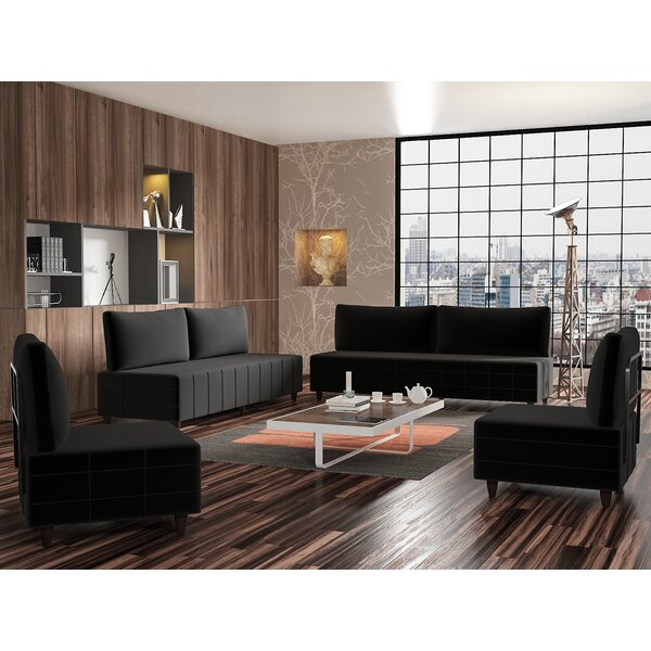 Pickle 4 Piece Living Room Set by Wrought Studio