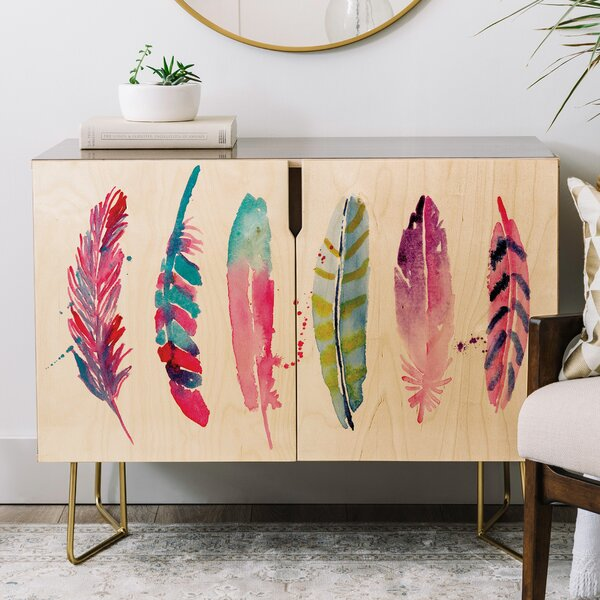 Karen Feather Credenza by East Urban Home