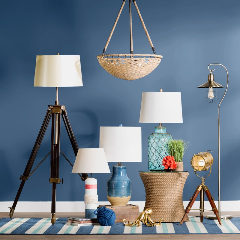 Manderly nautical net 29 table lamp