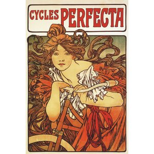 Cycles Perfecta by Alphonse Mucha Vintage Advertisement on Wrapped Canvas by Portfolio Canvas Decor