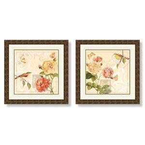 'Floral' 2 Piece Framed Graphic Art Set by One Allium Way