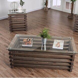 Compare Perrodin Farmhouse 2 Piece Coffee Table Set ByUnion Rustic