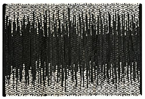 Parkin Recycled Hand-Woven Black Indoor/Outdoor Area Rug by Bungalow Rose