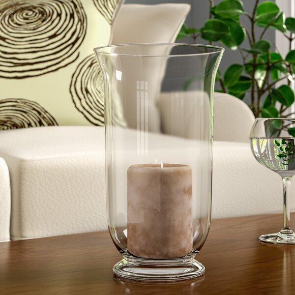 Glass Hurricane Vase by Alcott Hill
