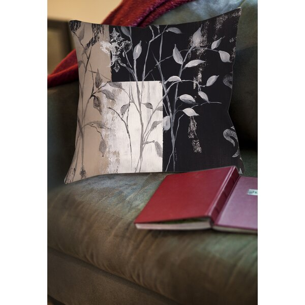 African Leaf Abstract Printed Throw Pillow by Manual Woodworkers & Weavers