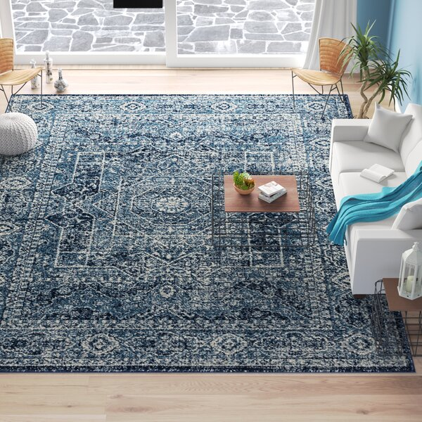 Dietz Midnight Blue Area Rug by Bungalow Rose